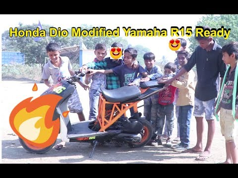 Honda Dio Modified into KTM Styled Wild Scooter