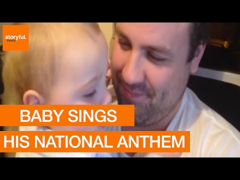 Patriotic Baby Sings the Irish National Anthem
