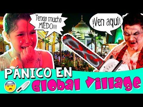¡¡PÁNICO en GLOBAL VILLAGE!! 😰🔪 ¡Daniela aterrada en un PARQUE TEMÁTICO de DUBAI! 🇦🇪 👨👩👧👦