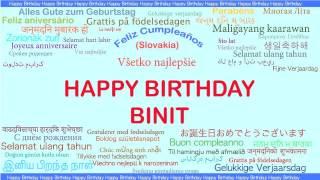Binit   Languages Idiomas - Happy Birthday