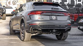 Lifted Audi RSQ 8? Fan crashes into a wall!