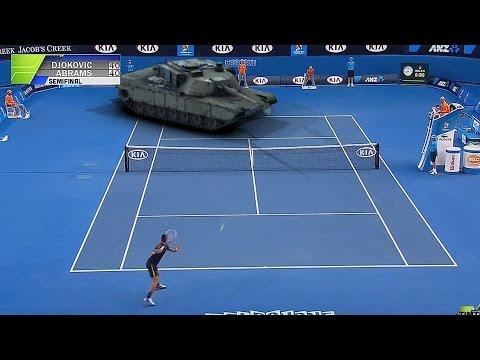 Aus Open 2015 Djokovic V Abrams Semi Final Youtube