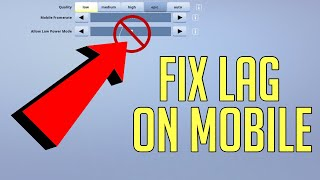 How to FIX LAG in Fortnite Mobile! (SUPER EASY)