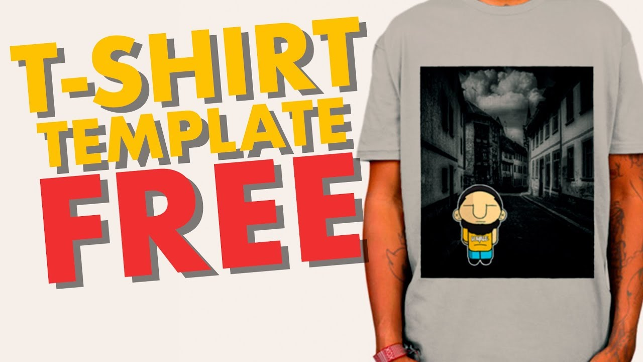 t shirt template photoshop youtube