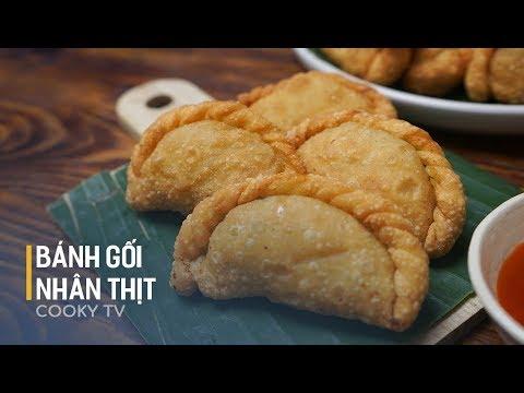 Cách làm BÁNH GỐI (Bánh xếp chiên) nhân thịt – Cooky TV