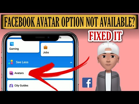 Avatar Option Not Showing On Facebook Problem Solved