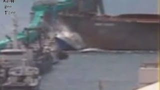 Smaller Ship CRUSHED completely; Marine accidents compilation cargo ships; amazing footage