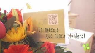 Entrega de flores a domicilio con dedicatorias multimedia