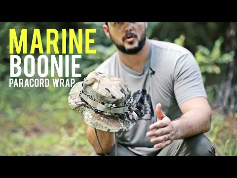 Paracord Wrap Your Boonie Cap like a MARINE