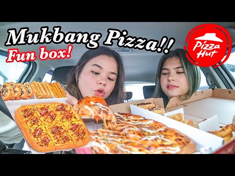 Mukbang Fun Box Menu Baru PIZZA HUT!! Murah Banget! Menang Banyak!! | Sarina Nielsen