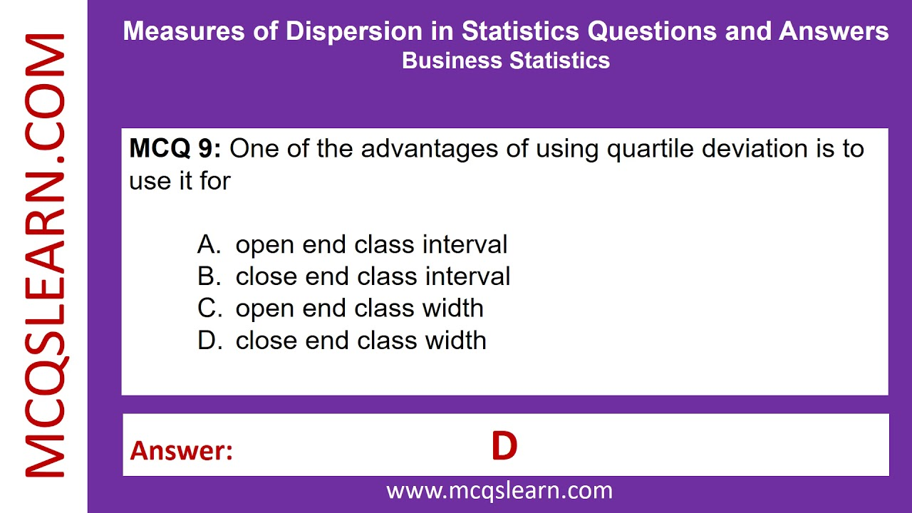 business statistics questions