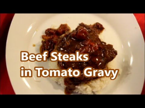 Beef - How To Make Beef Steaks In Tomato Gravy Recipe [Episode 175]