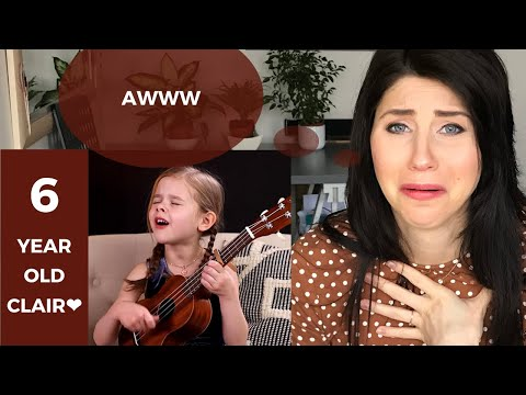 CONFIDENCE COACH Reacts To 6 YEAR OLD | Clair Crosby Can't Help Falling In Love Elvis Presley