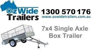 7x4 single axle box trailer oz wide trailers