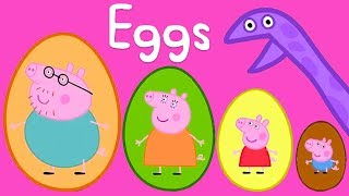 Peppa Pig - Surprise Eggs! Counting for Kids 1, 2 3 - Learning with Peppa Pig