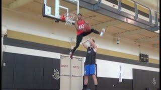 6'0 Chris John JUMPS OVER 6'8 Daniel Loh :: Dunk Session 32 Video
