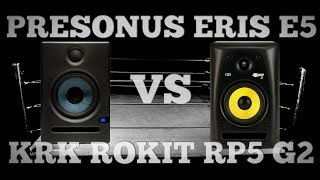 PreSonus Eris E5 vs. KRK Rokit RP5 G2 - Studio Monitor Comparison and Review