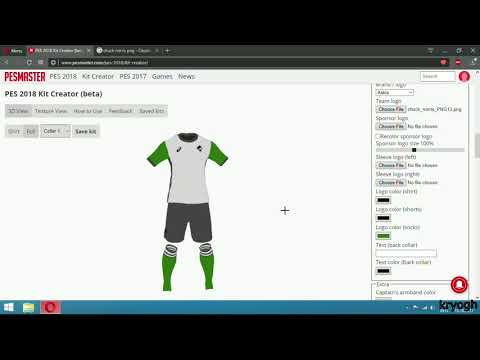 Create And Import Kits in PES 2018( The EASY Way ) - YouTube