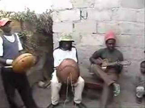 Reginald and Julius playing mbira music