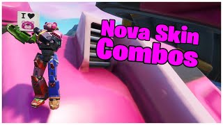 SHOWING THE * NEW * SKIN TEAM LEADER MECH & COMBOS | FORTNITE