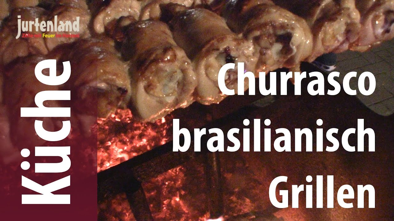 churrasco grillen auf brasilianisch jurtenland youtube. Black Bedroom Furniture Sets. Home Design Ideas