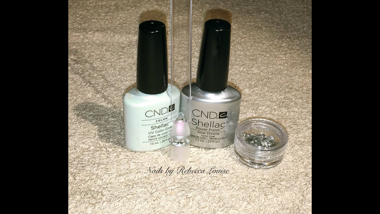 Cnd Shellac Pave Crystal Ring Inspired Nail Art Tutorial Youtube