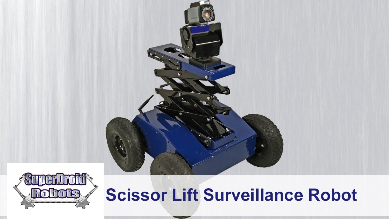PTW-42-L 4WD Inspection and Surveillance Robot with Scissor Lift and