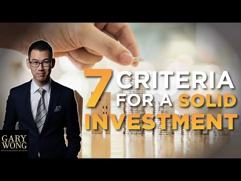 7 Criteria For A Solid Real Estate Investment