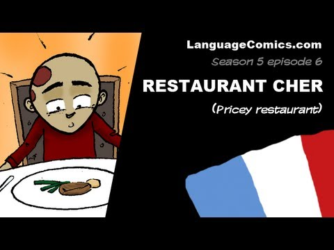 Cartoon in French language ~ S5e6 - Restaurant cher