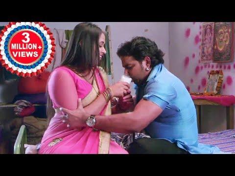 Kajal Raghwani Ne Pawan Singh  ko Doodh Pilaya Full Romantic Scene -2018  