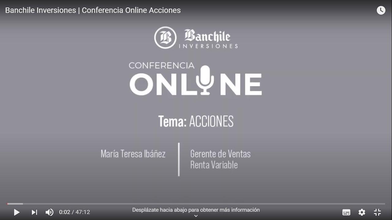 Conferencia Online | Acciones