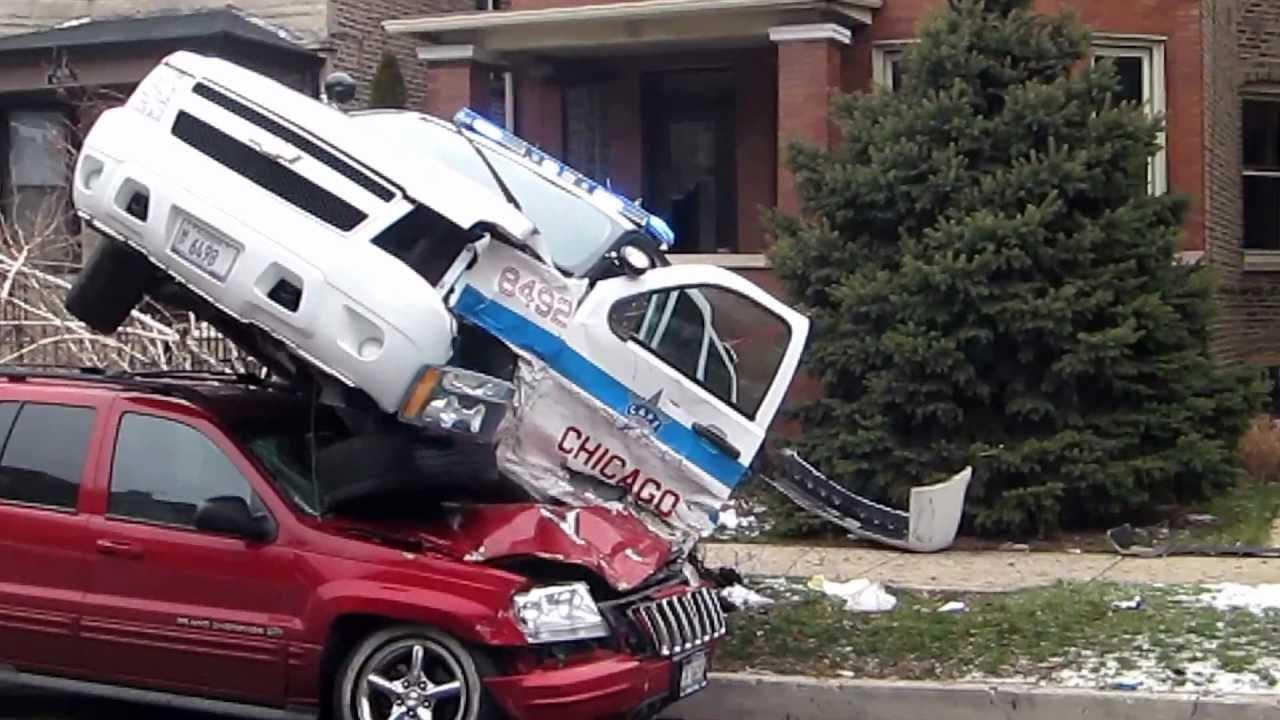 Chicago Police Car Crash!