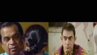 PK Brahmanandam vs Amir Khan Hindi Comedy video clips-
