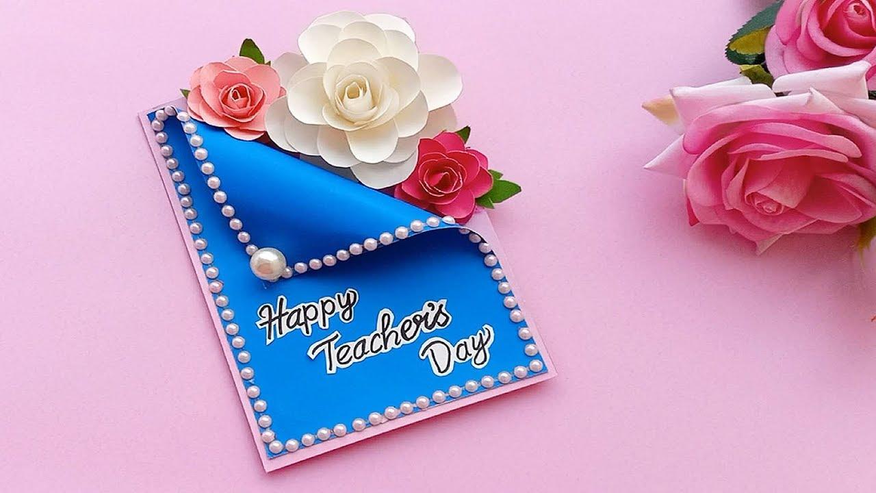 Diy Teacher S Day Card Handmade Teachers Day Card Making Idea Youtube Teachers Day Card Teachers Diy Greeting Cards For Teachers