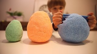 Fun Toys Eggs in Kinetic Foam