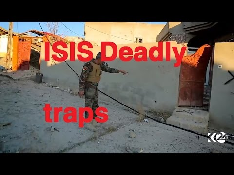 Peshmerga defuses hundreds deadly isis traps