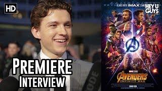 Tom Holland on Spider-Man's Instant Kill function & Tony Stark - Avengers Infinity War Premiere