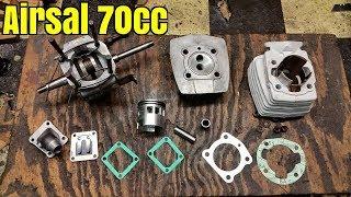 Monte moteur Peugeot 103 kit 70cc Airsal