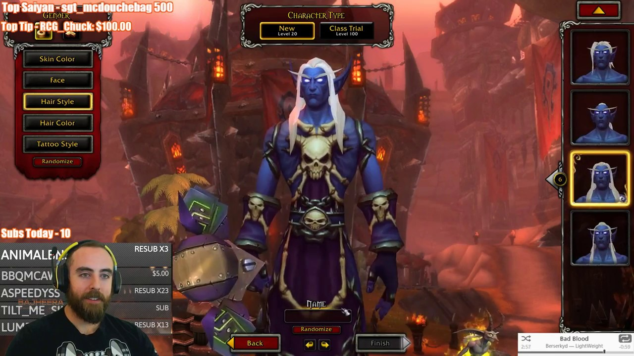 Bajheera - I CAN'T BELIEVE I GOT THIS NAME: Nightborne Character Creation -  WoW: Battle for Azeroth