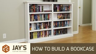 Build Article: http://jayscustomcreations.com/?p=54445 Bookcase #1: https://www.youtube.com/watch?v=oPuWKSbUoIA Bookcase