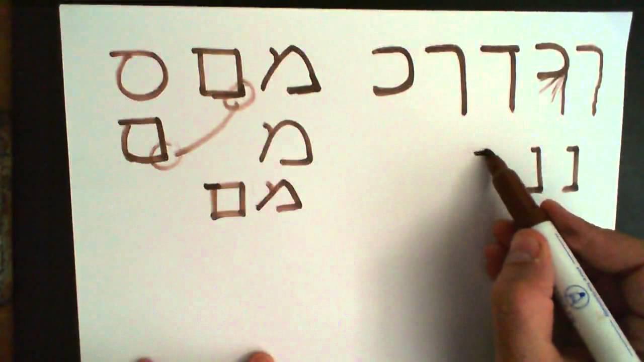 Handwritten word alchemy in hebrew script under colored lights