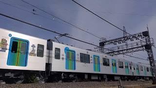 西武池袋線での『ドラえもん』ラッピング電車などの映像 2020/01/17