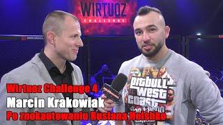 Marcin Krakowiak pozbawił Helshko przytomności potwornym kopnięciem na głowę   WIRTUOZ CHALLENGE 4
