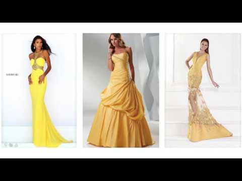 Gelbes abschlussballkleid, schöne abschlussballkleider lang