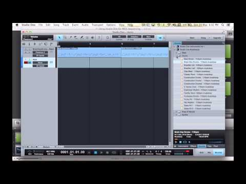 Using Studio One for MIDI sequencing