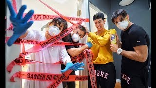 WE QUARANTINED OUR PARENTS for 24 HOURS! *PRANK*