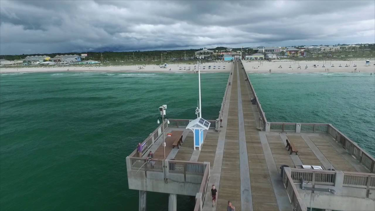 Panama city florida fishing pier youtube for Panama city beach pier fishing report