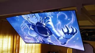 Samsung 55 curved 4k TV on Motorized Ceiling Mount MU8000 & 9000 Giga