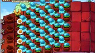 Plants vs. Zombies survival roof -ADAM