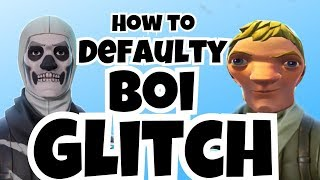* NEU* WIE ZU GET DEFAULT SKIN & REMOVE BACKBLING GLITCH IN FORTNITE BATTLE ROYALE!!